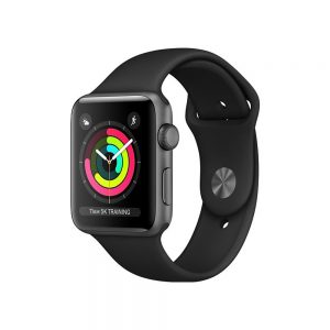 Watch Series 3 Aluminum Cellular (42mm), Space Gray, Black Nike Sport Loop