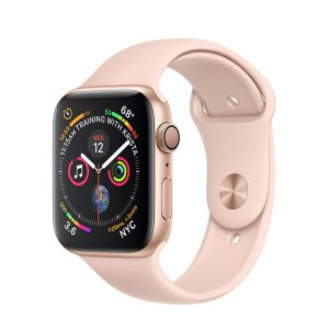 Watch Series 4 Aluminum Cellular (44mm), Gold, Pink Sand Sport Band